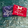 Disney Tops | Best Day Ever Disney Tees Unisex | Color: Blue/Red | Size: Various