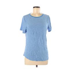 Old Navy Short Sleeve T-Shirt: Blue Print Tops - Size Medium