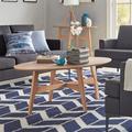 Mercury Row® Gambino Conrad Coffee Table Wood in Brown, Size 18.0 H x 47.5 W x 26.0 D in | Wayfair B03EED49B157435D8691F0680A70C261
