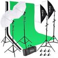 "Winado Photography Studio Backdrop Softbox Umbrella Background Stand Set, Plastic, Size 12"" & Less 