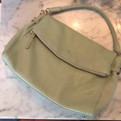 Kate Spade Bags | Kate Spade Pebbled Leather Polly Flap Purse | Color: Green | Size: Os