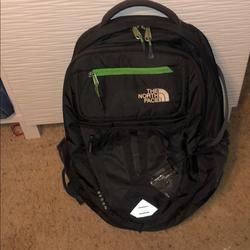 The North Face Bags | North Face Recon Backpack | Color: Black/Green | Size: Os