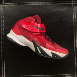 Nike Shoes | Nike Lebron Soldier 8 Red Basketball Shoes | Color: Red/White | Size: 7bb