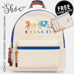 Coach Bags | Coach Pride Collection Backpack W Free Card Case | Color: Pink/Yellow | Size: Os