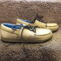 Nike Shoes | Mens Vintage Nike Casual Boat Shoes | Color: Cream/Tan | Size: 9