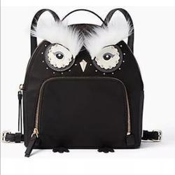 Kate Spade Bags   Kate Spade Black Owl Tomi Backpack Small New Cute   Color: Black   Size: 8 34 At The Bottom (L) X 9 14(H) X 4 (W)