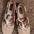 Polo By Ralph Lauren Shoes | Brown & Tan Ralph Lauren Polo Boat Shoes | Color: Brown/Tan | Size: 6bb
