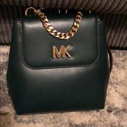 Michael Kors Bags | Michael Kors Mott Leather Backpack Racing Green | Color: Green | Size: Os