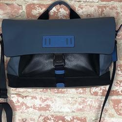 Coach Bags   Coach Terrain Bike Bag Messenger Bag   Color: Black/Blue   Size: 14 12 (L) X 9 (H) X 6 (W)