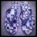 Coach Shoes | Coach Sandals Size 7.58 | Color: Gray/Purple | Size: 8