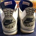 Nike Shoes | Nike Air Jordan Retro 4 White Cement Needs Laces | Color: White | Size: 10