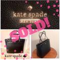 Kate Spade Bags | Kate Spade Large Gold Logo Black Classic Tote Nwt | Color: Black | Size: 12h X 13.2w X 5.3d