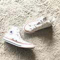 Converse Shoes | Converse All-Star White High Top Kids Converse | Color: Black/Pink/White | Size: 1bb