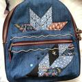 Coach Bags | Coach Denim Leather Small Blue Cute Backpack | Color: Blue | Size: Os