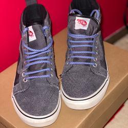 Vans Shoes | Grey Hightop Vans | Color: Blue/Gray | Size: 8.5