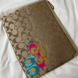 Coach Bags   Coach Laptopipad Case   Color: Brown/Tan   Size: 11inx8.5in