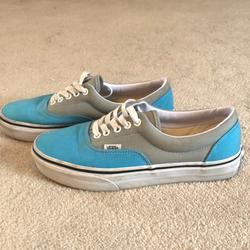 Vans Shoes | Blue And Grey Vans | Color: Blue/Gray | Size: 8
