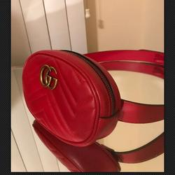 Gucci Bags   Gucci Marmont Red Leather Belt Bag   Color: Red   Size: 85
