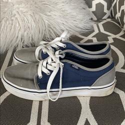 Vans Shoes | Blue And Gray Vans | Color: Blue/Gray | Size: 6.5