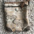 Coach Bags | Coach Sling Shoulder Purse | Color: Cream/Tan | Size: 8in X 6in
