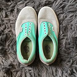 Vans Shoes   Lowtop Turquoise Vans   Color: Blue/Gray   Size: 8
