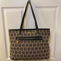 Michael Kors Bags   Micheal Kors Logo Large Tote Bag   Color: Black   Size: Large Tote