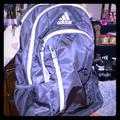 Adidas Bags | Large Black Adidas Backpack 2 Bottle Holders | Color: Black/White | Size: Os