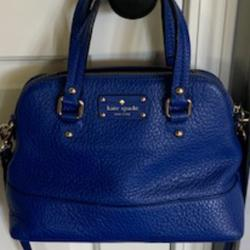 Kate Spade Bags   Kate Spade Cobalt Blue Leather Pebbled Leather   Color: Blue   Size: Os