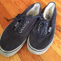 Vans Shoes | Navy Blue Classic Vans | Color: Blue/Gray | Size: 8.5