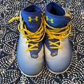Under Armour Shoes | Curry 2 Basketball Shoes- Under Armour | Color: Blue/Yellow | Size: 8