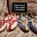 Coach Shoes | Coach Sneakers 1 Red Pair, 1 Blue Pair | Color: Blue/Red | Size: 9