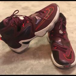Nike Shoes | Nike Lebron James Xiii Basketball Ball Shoes Sz 12 | Color: Red | Size: 12