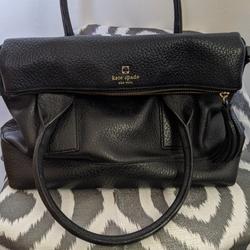Kate Spade Bags | Kate Spade Pebble Leather Kate Spade | Color: Black | Size: Os