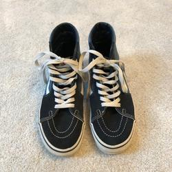 Vans Shoes | Blue And Gray High Top Vans | Color: Blue/Gray | Size: 7.5