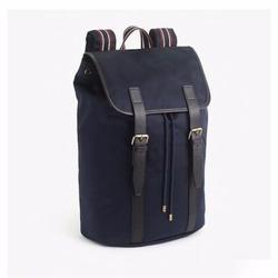 J. Crew Bags   J.Crew Oar Stripe Nylon Backpack Bag Navy Black   Color: Black/Blue   Size: Os