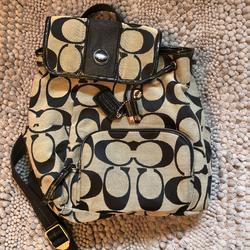 Coach Bags   Coach Cloth Black Backpack   Color: Black/Gray   Size: Small Backpack
