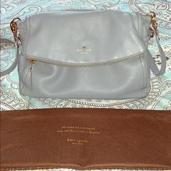 Kate Spade Bags | Kate Spade Dust Blue Satchel With Folder Over Flap | Color: Blue | Size: Os