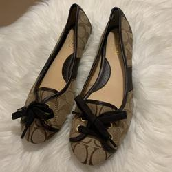 Coach Shoes | Coach Josie Ballet Flats Brown Casual Shoes 8.5 M | Color: Brown/Tan | Size: 8.5