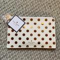Kate Spade Bags | Kate Spade Pencil Case | Color: Gold/White | Size: Various