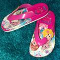Disney Shoes | Frozen Elsa&Anna Flip-Flops Girls | Color: Pink/Yellow | Size: Various