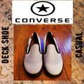 Converse Shoes | Converse Deck Star Slip On Shoes | Color: Black/White | Size: 11