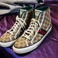 Gucci Shoes | Mens 11 Gucci Shoes W Silk Gucci Shoe Bags | Color: Tan | Size: 11