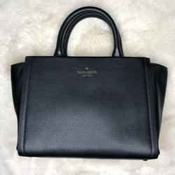 Kate Spade Bags   Kay Spade New York Pebbled Satchel Tote, Black   Color: Black   Size: Mini Satchel Crossbody Top Handle Bag