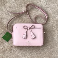 Kate Spade Bags | Hayes Street Arla Pebble Leather Crossbody | Color: Red | Size: Hayes Street Arla Pebble Leather Crossbody