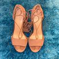 Michael Kors Shoes | Michael Kors Lace Up High Heels Shoe | Color: Tan | Size: 8