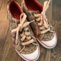 Coach Shoes | Coach Shoes | Signature Cap Toe Canvas Sneakers | Color: Brown/Cream | Size: 7