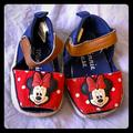 Disney Shoes | Mini Mouse Baby Shoes Size 3-6months | Color: Blue/Red | Size: 3-6mo