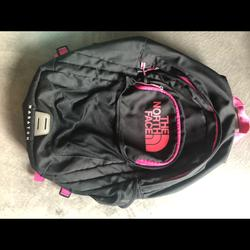The North Face Bags   North Face Book Bag   Color: Black/Pink   Size: Os