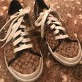 Coach Shoes | Coach Canvas Tennis Shoes | Color: Brown | Size: 8