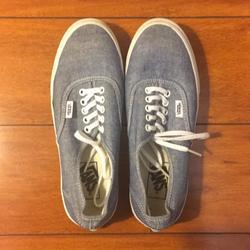 Vans Shoes   M(6.5) W(8) Blue Gray Old Skool Vans Brand New   Color: Blue/Gray   Size: 8